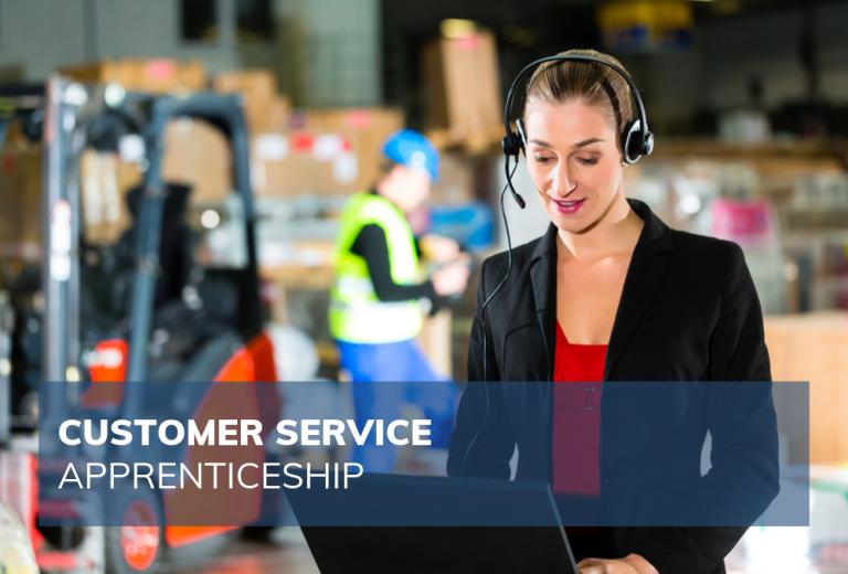 female customer service employee in warehouse setting