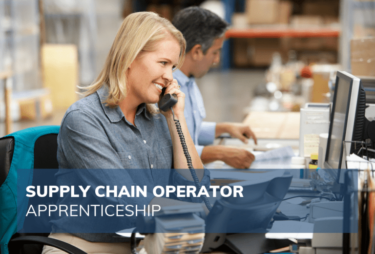 female employee on the phone in warehouse