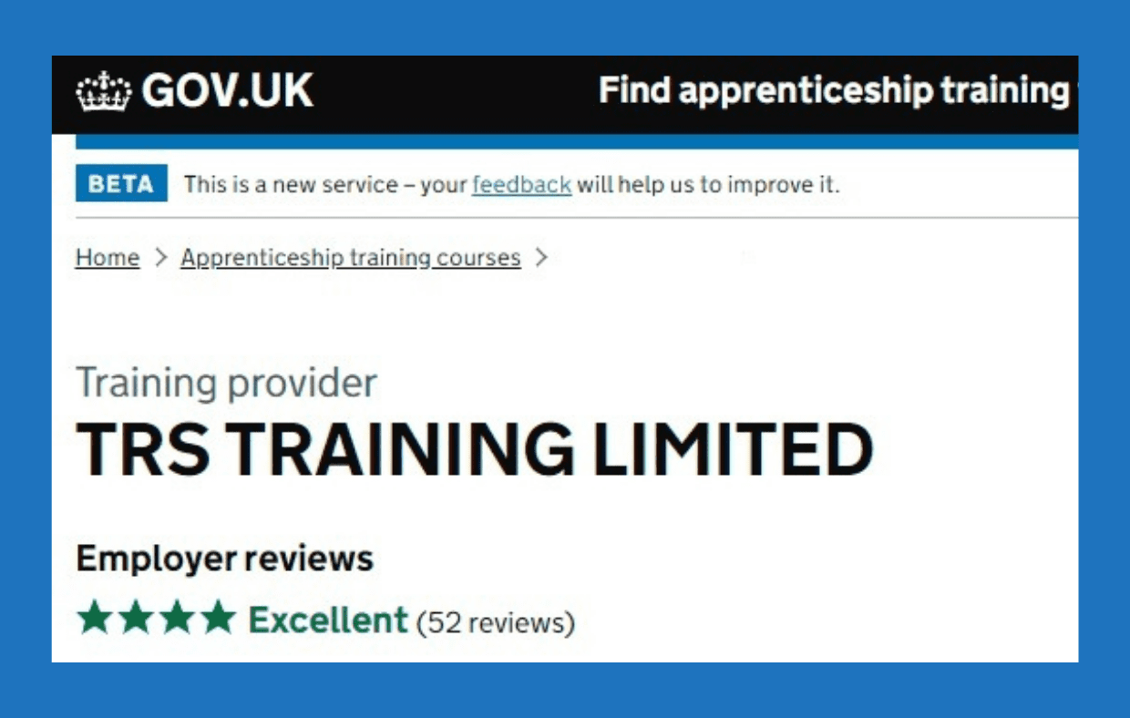 TRS apprenticeship training awarded top marks by employers